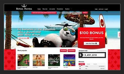 Royal Panda - 100% upp till 1000 kr + 10 free spins!